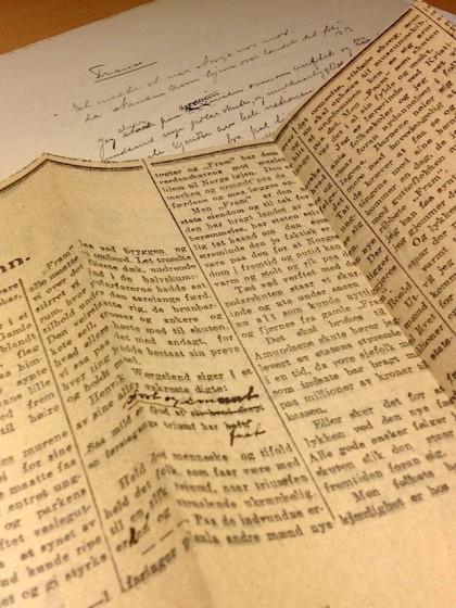 Regine Normann: Fram. Zeitungsartikel in Tidens Tegn im Februar 1917