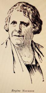 Regine Normann tegning adressavisen 1932