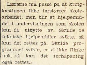 Skolekringkasting Arbeiderbladet 19.02.1931